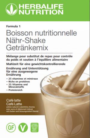 Formula 1 Ausgewogene Mahlzeit Café latte