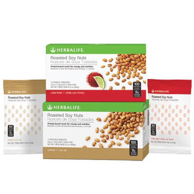 Roasted Soy Nuts Chili Lime 12 Packets/Box