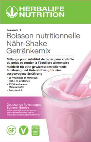 Formula 1 Boisson nutritionnelle  Douceur de fruits rouges