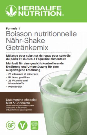 Formula 1 Boisson nutritionnelle Duo menthe-chocolat