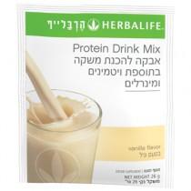אבקת משקה בשקית למנה אישית בטעם וניל - פורמולה 1